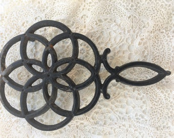 Antique Wilton Cast Iron Trivet