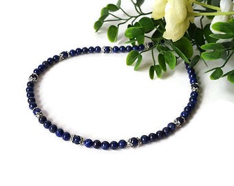 Lapis Lazuli Necklace Blue Wife Gift Birthday Mother's Day Gift for her Blue Gemstone Statement Necklace Mom Wife Christmas Gift Idea