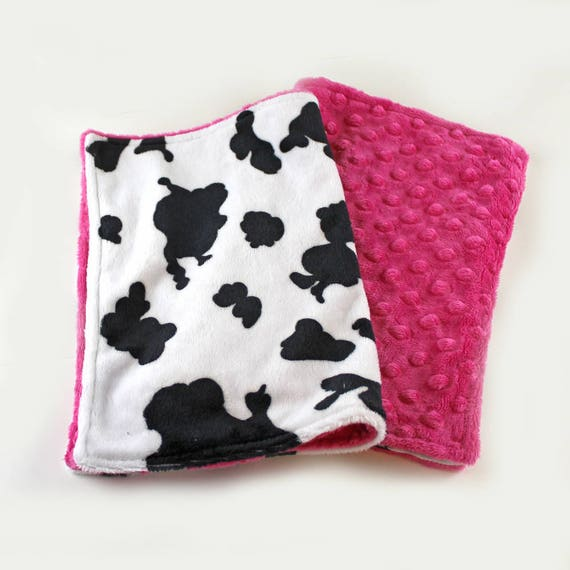 Cow Baby Lovey, Mini Minky Baby Blanket, Personalized Baby Blanket, security Blanket, Cow Baby Blanket, Girl Lovey Blanket Name baby blanket