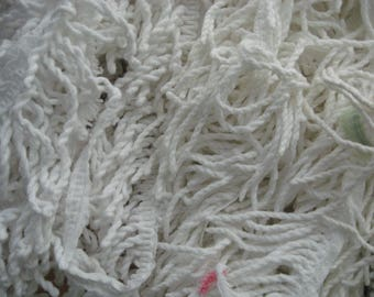 White Fringe from Chenille Bedspread