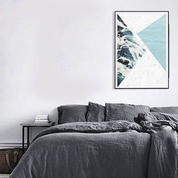 ABSTRACT ocean // Poster 24x36, minimalist art print, geometric print, scandinavian poster, Nordic design