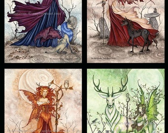 SPECIAL 5x7 Fae Queens fairy SET by Amy Brown