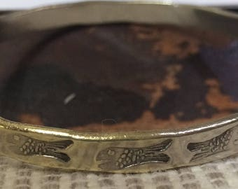Vintage Taxco Mexico Sterling Silver Fish Bangle