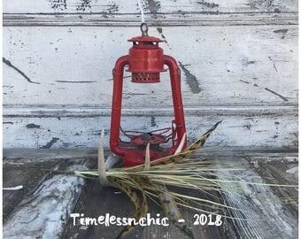 Vintage Red Lantern - Rustic Lantern - Hanging Lantern - Vintage Lantern - Lantern - Lantern Light - Dietz Lantern - Lantern Lamp - Rustic