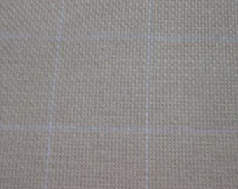 2 yard piece of cotton monks cloth with 2 x 2 grid for primitive rug hooking