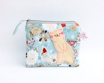 coin purse, cat coin purse, japanese purse, pouch, change purse, zipper pouch, cute coin wallet, kawaii coin purse, cat pouch, kawaii purse