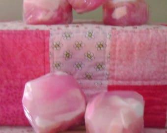 Rosie Quartz Bubble Rock Shea Butter Soap