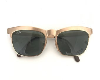 Ray-Ban Nuevo Vintage B&L Bausch And Lomb Ray Ban Aviator Sunglasses, Pilot, Driver Glasses Frame Made in France