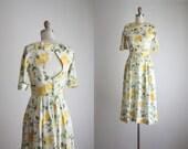 1950s backless rose dress