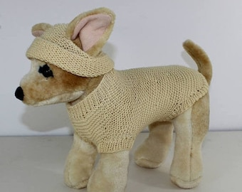 50% OFF SALE madmonkeyknits - Small Dog  4 Ply Coat and Beanie Hat knitting pattern pdf download - Instant Digital File pdf knitting pattern