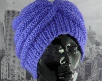 40% OFF SALE Instant Digital File pdf download Knitting Pattern - Chunky Beehive Turban hat knitting pattern by madmonkeyknits