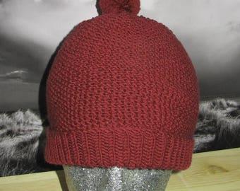 30% OFF SALE Instant Digital PDF File Knitting Pattern- Moss Stitch Bobble Beanie Hat knitting pattern by madmonkeyknits