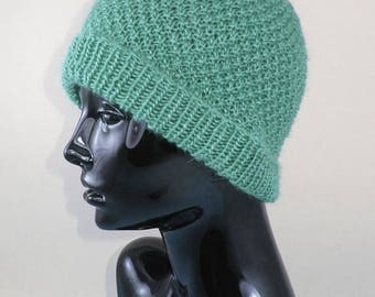30% OFF SALE Instant Digital File pdf download Knitting pattern- Double Moss (Seed) Stitch Beanie Hat pdf download knitting pattern