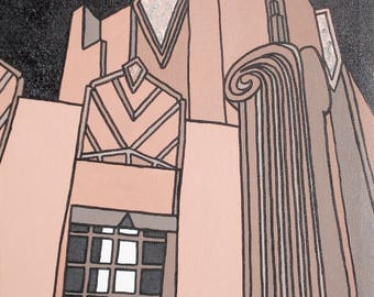 Pop Art Art Deco Tower Painting