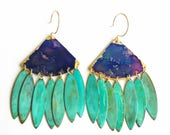 Festival Earrings - Watercolor Patina
