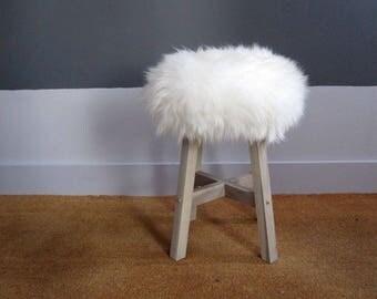 Truffula Tree sheepskin stool