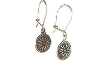 Sterling silver Macedonian Virginia Sun earrings - Greek jewelry - Sun earrings - Greek earring - Greek antiquity Jewelry