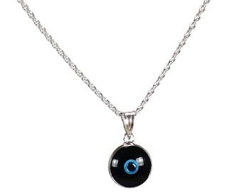 Evil eye necklace - Black eye - 925 sterling silver - protection - Greek jewelry