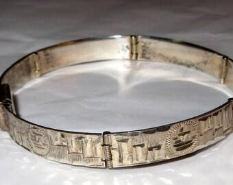 Mexico Sterling Silver 925 Panel Bracelet