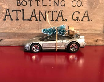 Acura NSX Carrying Christmas Tree Ornament