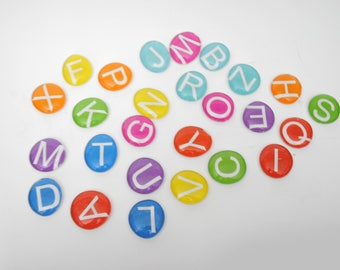 ABC letters - LARGE uppercase colorful magnet or push pin set -you choose your own COLOR - 2018 perpetual calendar, back to school, colorful