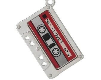 2 pcs Cassette Tape Charms