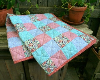 Vintage baby quilt | Etsy : handmade baby quilts etsy - Adamdwight.com