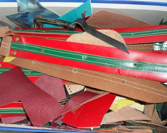 DESTASH LEATHER SCRAPS/Scraps of Purse Leather/ Colorful Leather Scarps/ Purse and Keychain Leather Scraps/ Leather Scraps/ Great Leathers