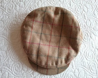 Vintage Newsboy Flat Cap Wool Chrysalis Country Clothing England size Medium