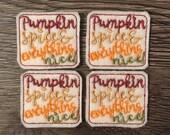 Pumpkin Spice Feltie Set of 4 - Fall Feltie - Thanksgiving Feltie - Fall Feltie