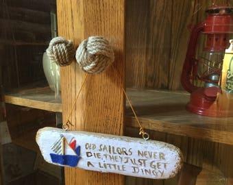 6 Rope Drawer Pulls - Nautical Doorknobs - Jute Rope - Nautical Decor - Rope Doorknobs - Dresser Pulls - Knot Dresser Pulls