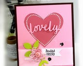 Valentine's Card- Stampin' Up Lovely