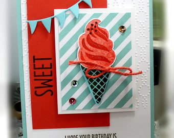 Stampin' Up Sweet Birthday Card