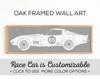 Vintage Race Car Print - Perfect for Boys Room Wall Art - Car Design #4