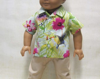 """Hawaiian Shirt and Pants for Logan and other 18"""" Boy Dolls"""