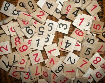 Wood Number Pieces