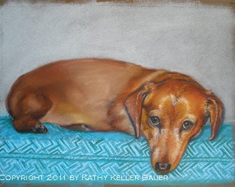 "11x14"" Custom Portrait Dog Pet Pastel Drawing Paintings"