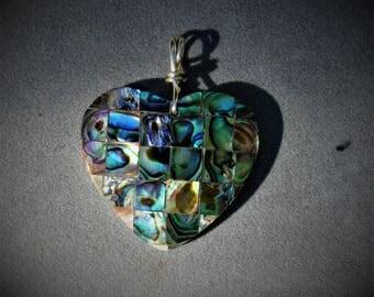 Abalone Heart  - pendant