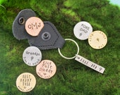 Golf Marker with Keychain, Father's Day Gifts, Gifts for Him, Dad or Grandpa Copper, Brass, Aluminum Hand Stamped Personalized Key Chain