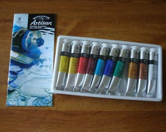 Winsor & Newton Artisan Water Mixable oil colour--New in Package  10 colors 10 tubes of 21 ml each
