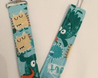 On Sale Little Monsters Paci Binky Clip