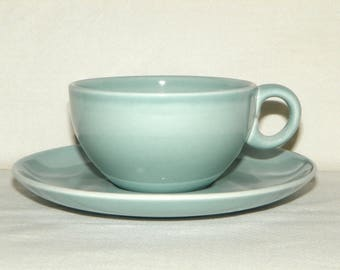 Vintage Russel Wright Iroquois Casual China Ice Blue Cup and Saucer MINT