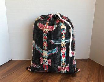Totem bag, baby carrier bag, book bag for kids, fabric storage bag, reusable gift bag, farmers market bag
