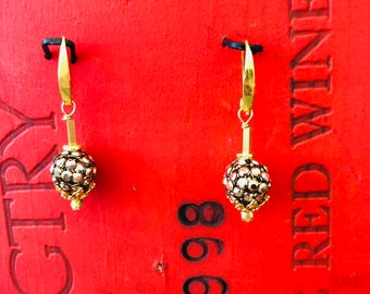 Vermeil and Swarovsky Crystal Earrings