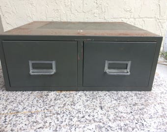 Vintage Industrial Card File Drawers