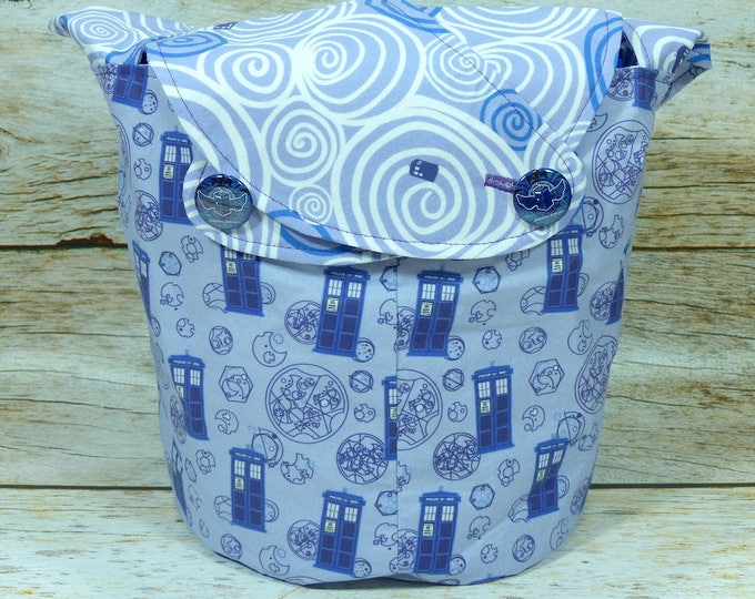 Time And Relative Dimension In Space - Medium Llayover Knitting Tote / Knitting, Spinning, Crochet Project Bag