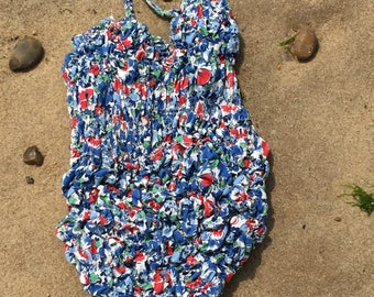 Childs Vintage Swimsuit - circa 1960s - age 6-7