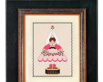 Music Box Angel Perforated Paper Striped Dress Wings Heart Garland Noel Stand Plastic Canvas Needlepoint Embroidery Craft Pattern Sheet 75