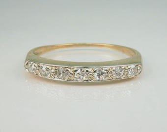 Vintage Diamond Wedding Band - Single Cut Diamonds
