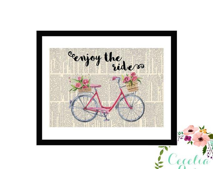 Enjoy The Ride Vintage Bicycle